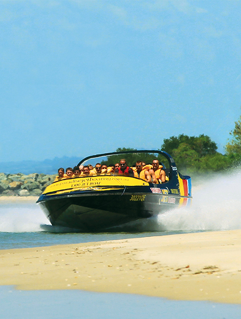Jet Boat beside the beach