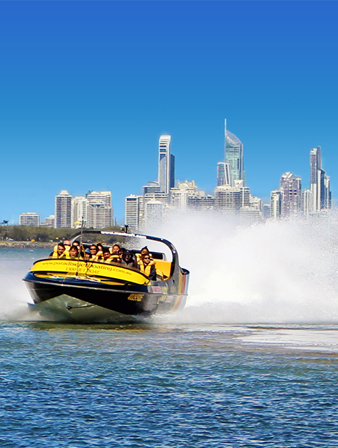 Jet Boat with Surfers Paradise background