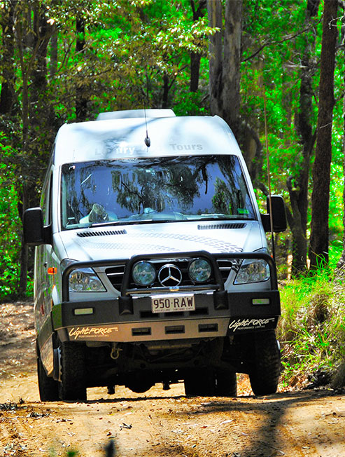 4WD Bus on Off Road Track