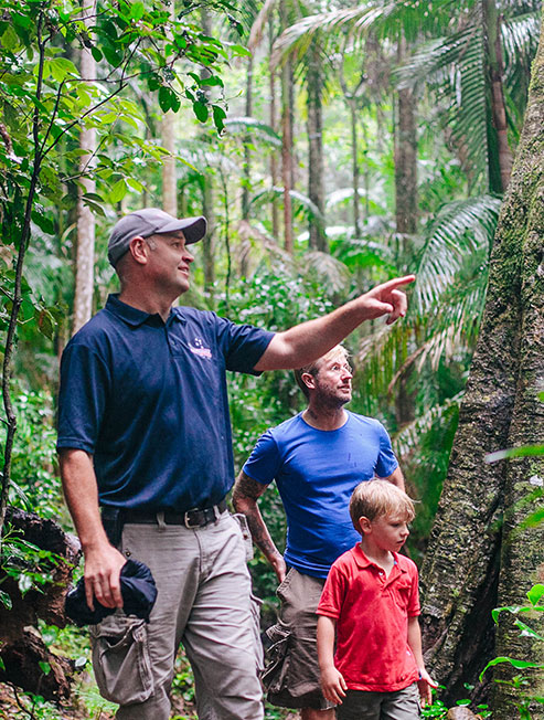 Rainforest Tour Guide with father and son